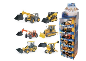 Construction Vehicles Display (12 pcs)