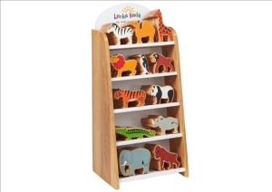 Animals in Wood Display Sml (48 D)