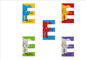 Animal Letters - E