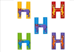 Animal Letters - H
