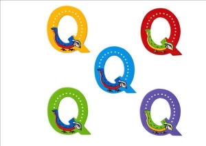 Animal Letters - Q