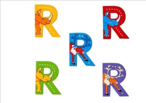 Animal Letters - R